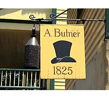 Old Salem Hat Shop Photographic Print
