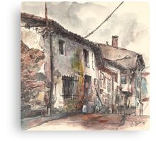 Old house in Guardo Canvas Print
