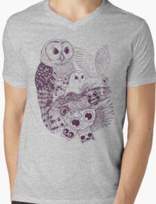 Owl Movement Mens V-Neck T-Shirt