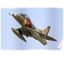 Israeli Air Force (IAF) Skyhawk (Ayit) fighter jet in flight Poster