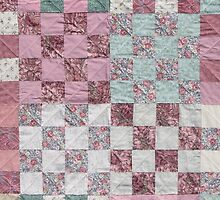 Desert Rose Squares by Jean Gregory  Evans
