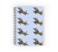 Israeli Air Force (IAF) Skyhawk (Ayit) fighter jet in flight Spiral Notebook