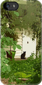Garden Cat by Julia Marshall
