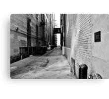 B&W Denver Alley Canvas Print