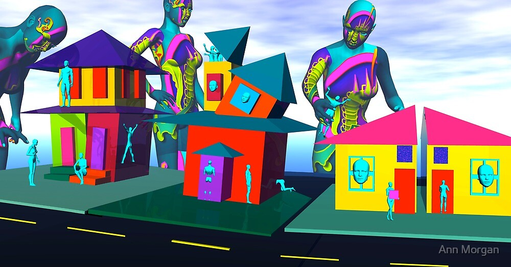 The Aqua People Get A Place To Live by Ann Morgan