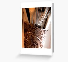 Hand Built Pottery Greeting Card
