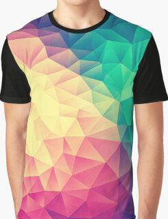 Abstract Polygon Multi Color Cubism Triangle Design Graphic T-Shirt