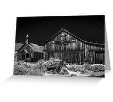 Church and Barn Greeting Card