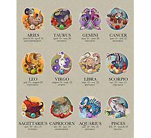 Dinosaur Astrology Chart Photographic Print