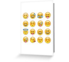 happy emoji design Greeting Card