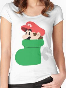 Boot Mario Women's Fitted Scoop T-Shirt