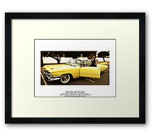 Marley Cross with Charlie Saraceno's 1959 Cadillac Coupe Deville Framed Print