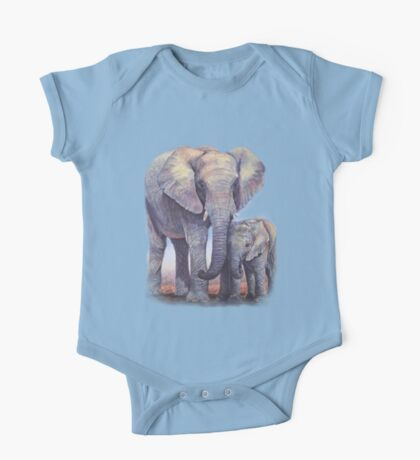 Elephants: Baby Bumper One Piece - Short Sleeve