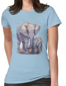 Elephants: Baby Bumper Womens Fitted T-Shirt