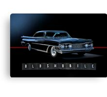 1959 Oldsmobile Custom with Logo Canvas Print