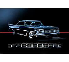 1959 Oldsmobile Custom with Logo Photographic Print