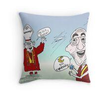 Le pape et le Dalaï Lama twitter bande dessinée Throw Pillow
