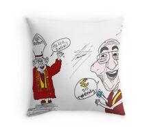 The pope and Dalai Lama twitter cartoon Throw Pillow