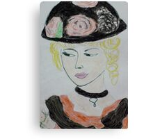 beauty with hat Canvas Print