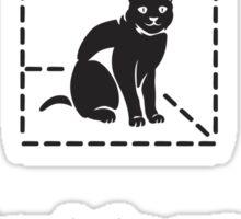 Le Chat de Schrödinger (dark) Sticker