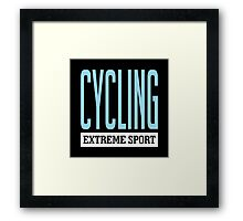 Cycling Extreme Sport Framed Print