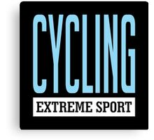 Cycling Extreme Sport Canvas Print