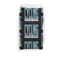 Cycling Extreme Sport Duvet Cover