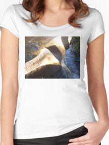 Flow Form Fountain, Rudolf Steiner College Women's Fitted Scoop T-Shirt