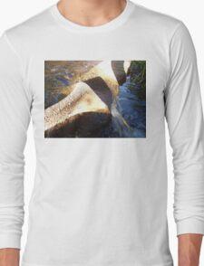 Flow Form Fountain, Rudolf Steiner College Long Sleeve T-Shirt