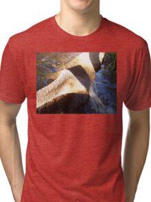 Flow Form Fountain, Rudolf Steiner College Tri-blend T-Shirt