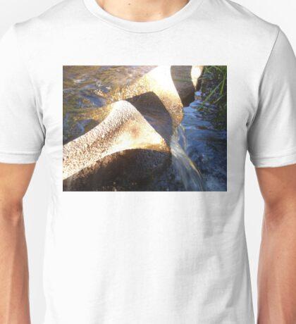 Flow Form Fountain, Rudolf Steiner College Unisex T-Shirt
