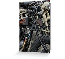 Vintage Motorcycles One Custom on Road Hugger Greeting Card