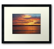 Shining Afterglow Framed Print