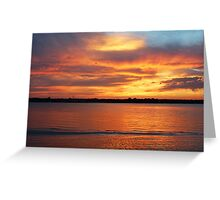 Shining Afterglow Greeting Card