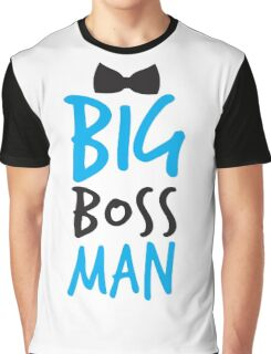BIG Boss man with a Black Bow Tie Graphic T-Shirt