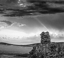 Ruins against a complex sky by eSWAGMAN