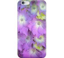 Purple And Yellow Hydrangea Flowers iPhone Case/Skin