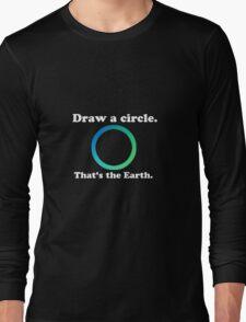 Hetalia 'Draw a circle, that's the Earth' Design Long Sleeve T-Shirt
