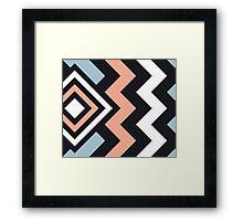 Extramo Modern Stripe Pattern 03 Framed Print