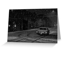On the Snowy Streets Greeting Card