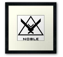 Halo: Reach - NOBLE Insignia (Black) Framed Print
