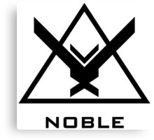 Halo: Reach - NOBLE Insignia (Black) Canvas Print