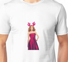 Merry Christmas Taylor Swift as Santa's Deer Unisex T-Shirt
