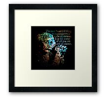The Source of All True Art - Albert Einstein Framed Print