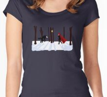 RWBY - Ruby Rose vs Beowulf Women's Fitted Scoop T-Shirt