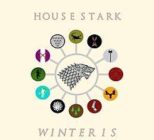 House Stark & vassal houses by Sadema