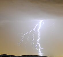 Lightning - Whittlesea, Victoria by Heather Samsa