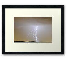 Lightning - Whittlesea, Victoria Framed Print