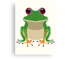 FINGERS & TOES FROG Canvas Print