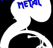I play Heavy Metal- Blue by zeepgreen